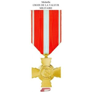 médaille croix valeur militaire