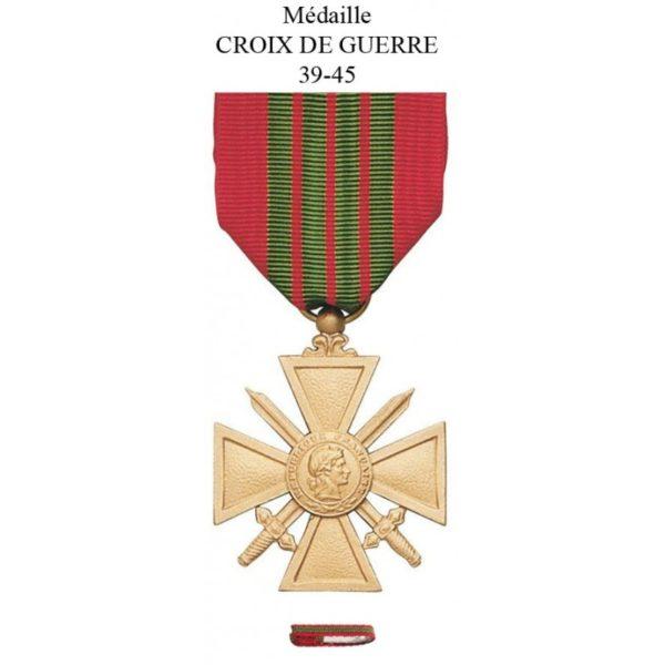 médaille militaire croix de guerre 39 45