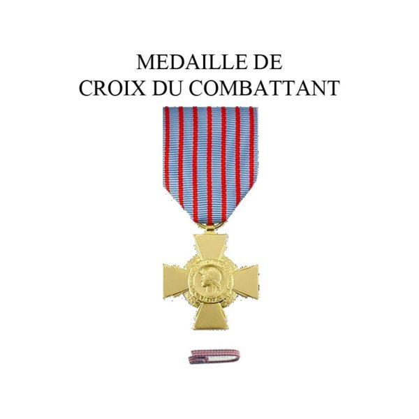 médaille croix du combattant
