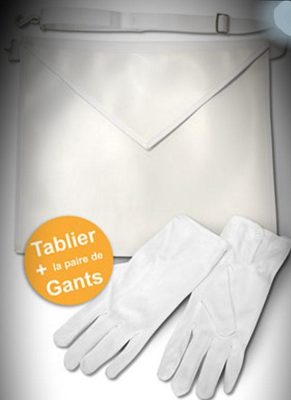 tablier + gants blanc